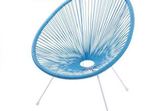 Cadeira com cordas em PVC